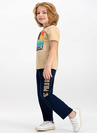 U.S. Polo Assn. Pijama Takım Bej
